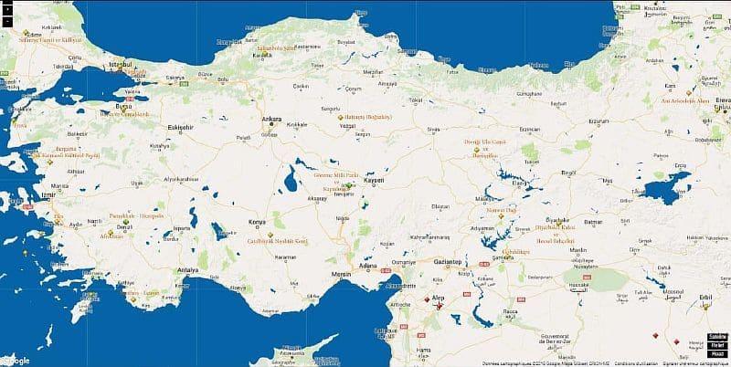 Карта ЮНЕСКО Турции