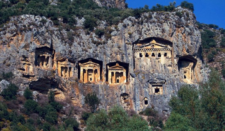 Ликийские гробницы Турция Дальян